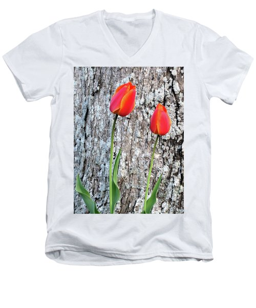 Men's V-Neck T-Shirt featuring the photograph Two by Linda Henne