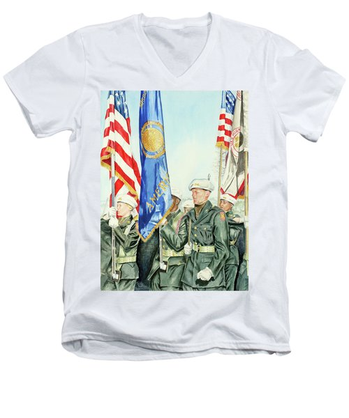 Two Months After 9-11  Veteran's Day 2001 Men's V-Neck T-Shirt