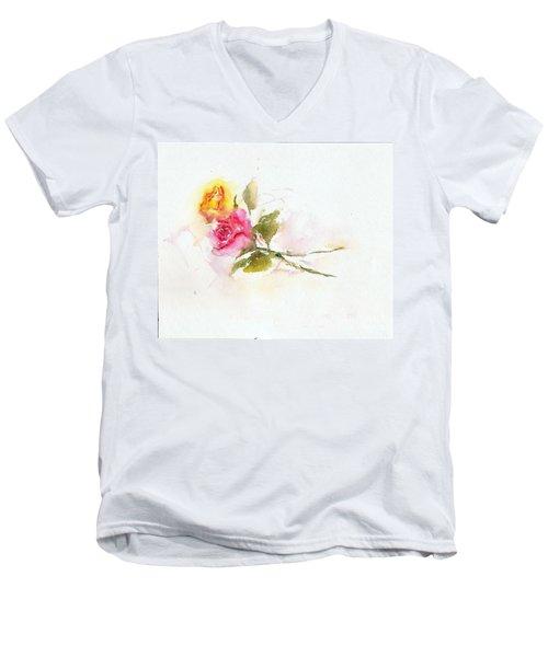 Two Roses Men's V-Neck T-Shirt