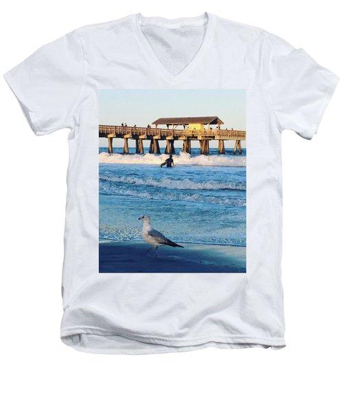 Tybee Island Men's V-Neck T-Shirt