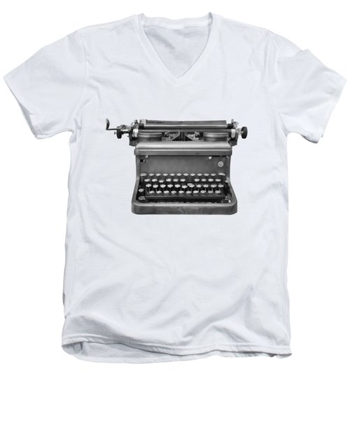 Typewriter Men's V-Neck T-Shirt