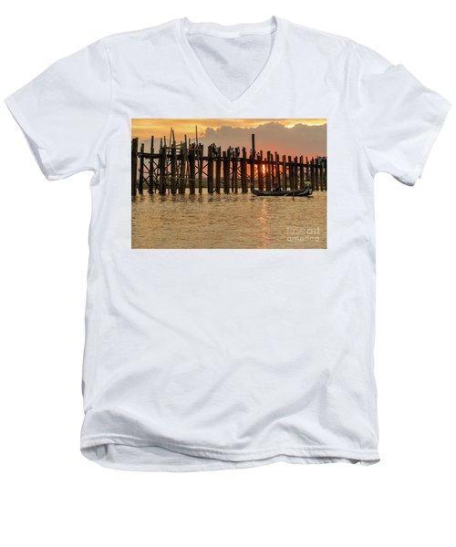 U-bein Bridge Men's V-Neck T-Shirt by Werner Padarin