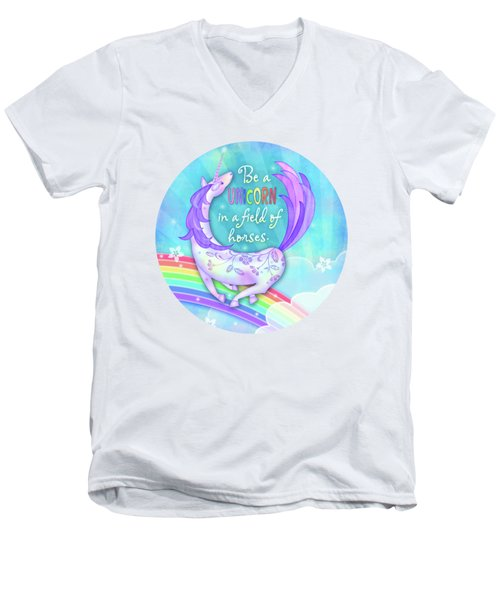 U Is For Unicorn Men's V-Neck T-Shirt