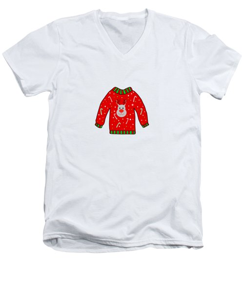 Ugly Christmas Sweater Men's V-Neck T-Shirt