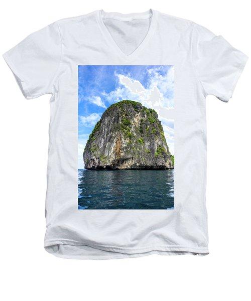 Uinhabited Island Men's V-Neck T-Shirt