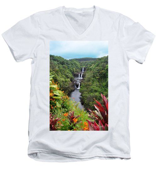 Umauma Falls Hawaii Men's V-Neck T-Shirt