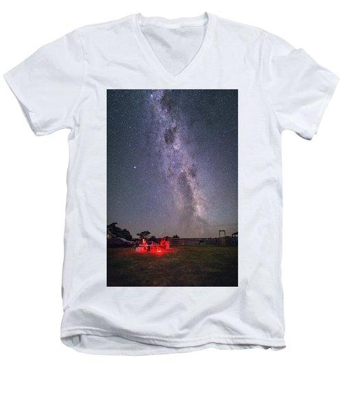 Under Southern Stars Men's V-Neck T-Shirt by Alex Conu