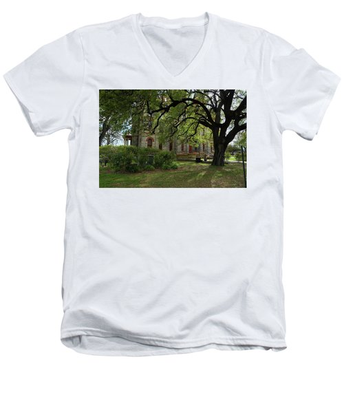 Men's V-Neck T-Shirt featuring the photograph Under The Tree F5622a by Ricardo J Ruiz de Porras