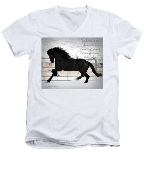 Understand The Soul Of A Horse Men's V-Neck T-Shirt