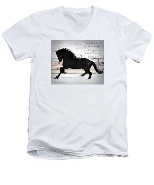 Understand The Soul Of A Horse Men's V-Neck T-Shirt