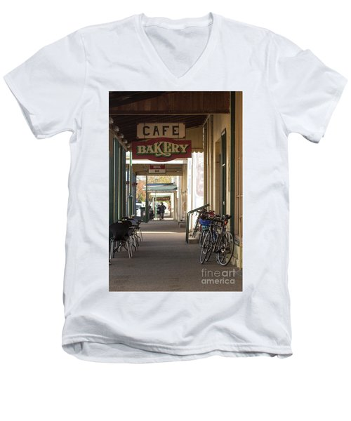 Men's V-Neck T-Shirt featuring the photograph Undoing All The Good Work by Linda Lees