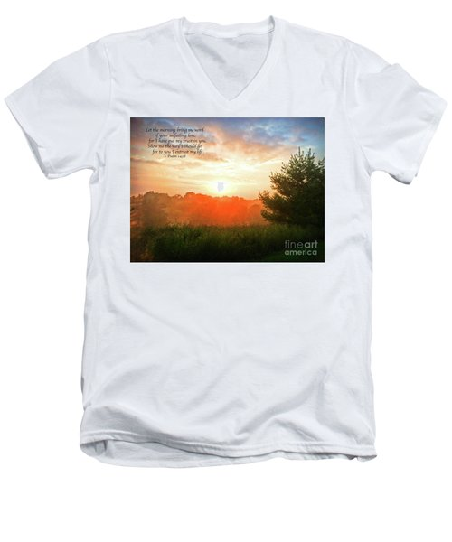 Men's V-Neck T-Shirt featuring the photograph Unfailing Love by Kerri Farley