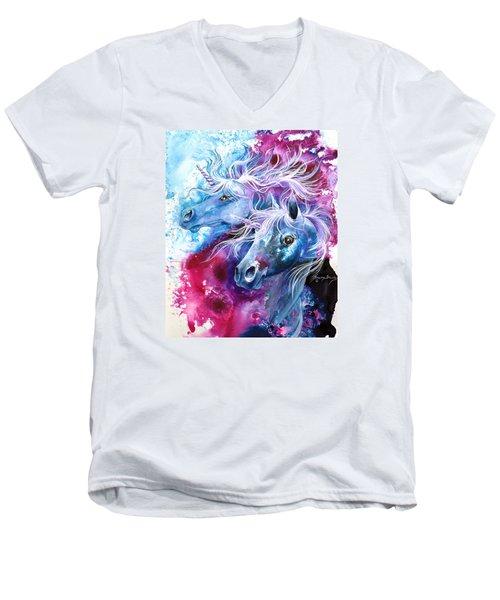 Unicorn Magic Men's V-Neck T-Shirt