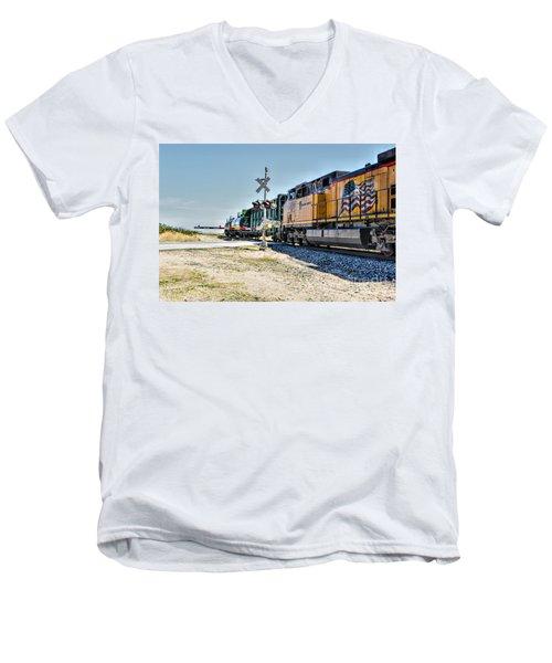 Union Pacific Men's V-Neck T-Shirt