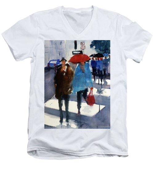Union Square9 Men's V-Neck T-Shirt by Tom Simmons