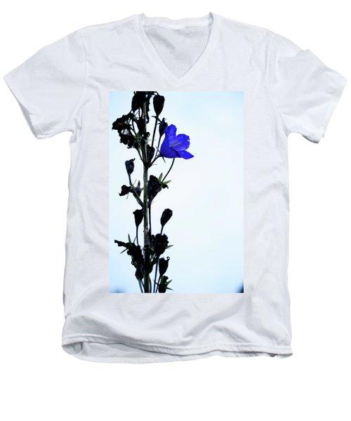 Unique Flower Men's V-Neck T-Shirt by Teemu Tretjakov