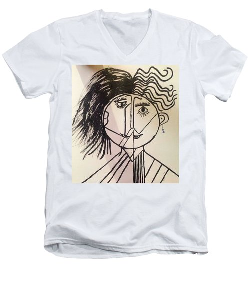 Unisex Men's V-Neck T-Shirt