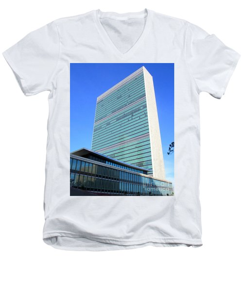 Men's V-Neck T-Shirt featuring the photograph United Nations 1 by Randall Weidner