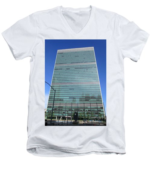 Men's V-Neck T-Shirt featuring the photograph United Nations 3 by Randall Weidner