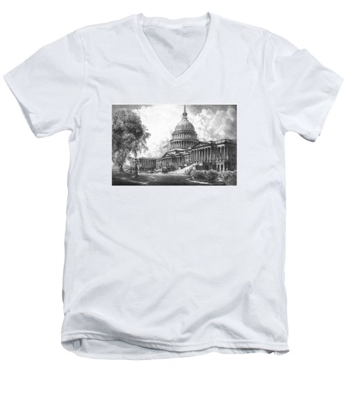 United States Capitol Building Men's V-Neck T-Shirt