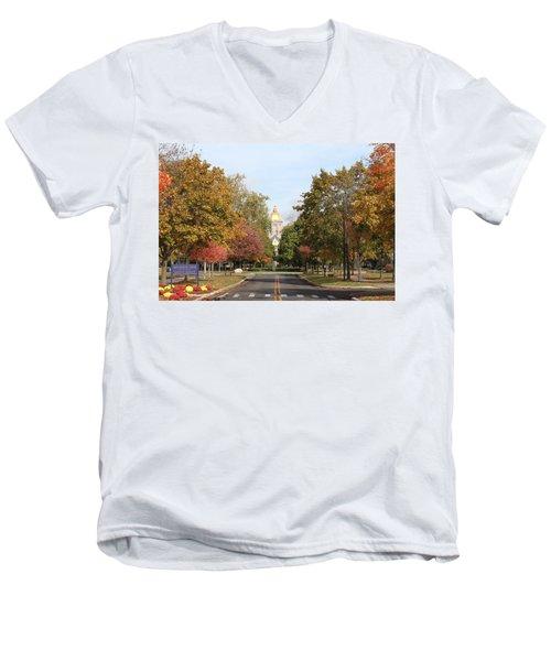 University Of Notre Dame Men's V-Neck T-Shirt