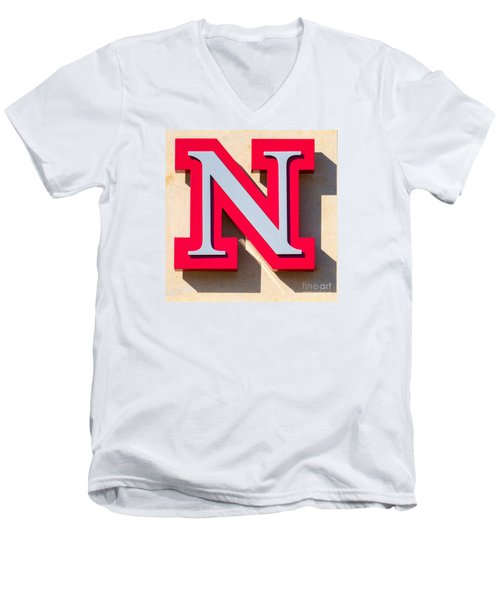 UNL Men's V-Neck T-Shirt by Jerry Fornarotto