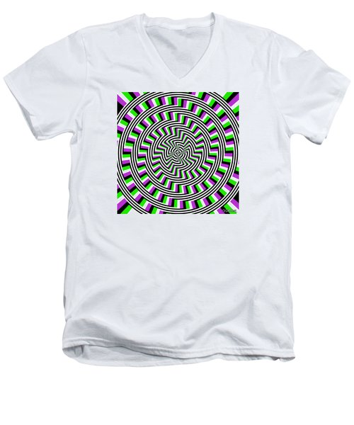 Self-moving Unspiral Men's V-Neck T-Shirt