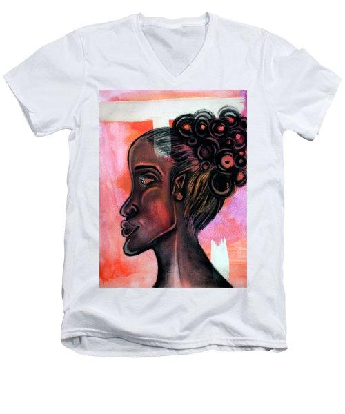 Untitled Lady II Men's V-Neck T-Shirt