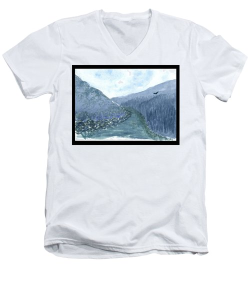 Up The River Men's V-Neck T-Shirt