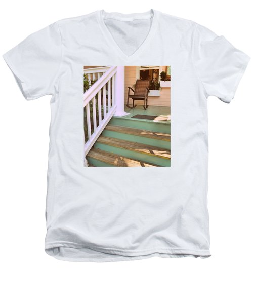 Up The Steps Men's V-Neck T-Shirt by JAMART Photography
