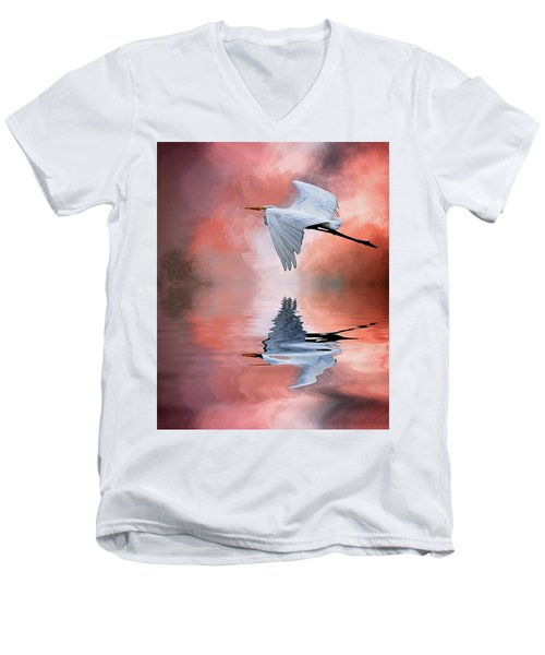 Up. Up And Away Men's V-Neck T-Shirt by Cyndy Doty