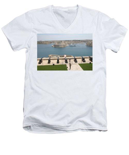 Upper Barrakka Saluting Battery Men's V-Neck T-Shirt