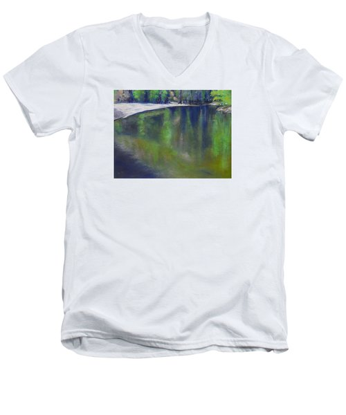 Upriver View Men's V-Neck T-Shirt