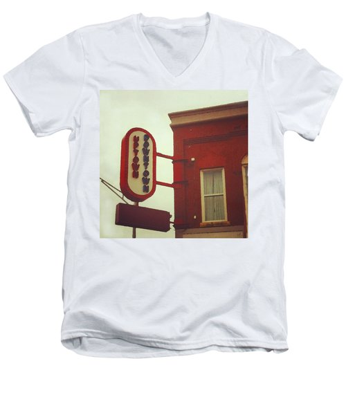 Uptown Downtown  Men's V-Neck T-Shirt
