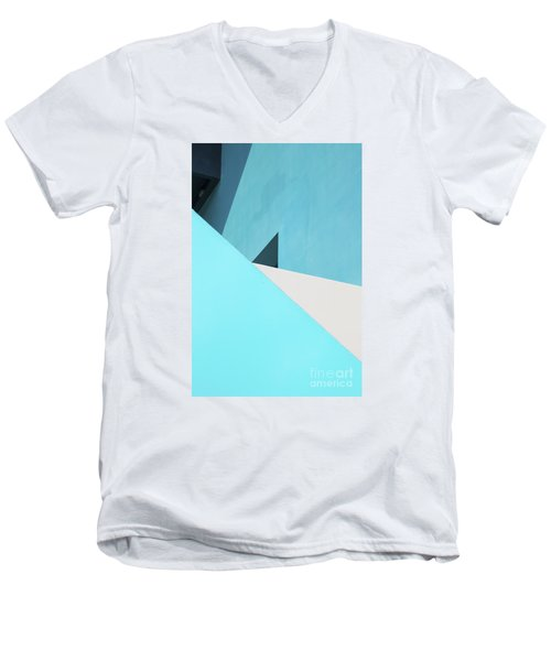 Men's V-Neck T-Shirt featuring the photograph Urban Abstract 3 by Elena Nosyreva