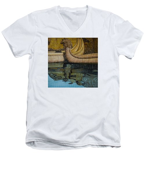 Uros Straw Boats And Island Men's V-Neck T-Shirt