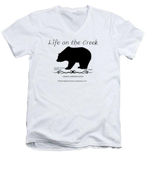 Ursus Americanus - Black Text Men's V-Neck T-Shirt