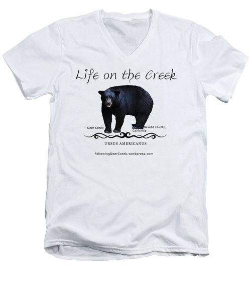 Ursus Americanus - Color Bear Black Text Men's V-Neck T-Shirt