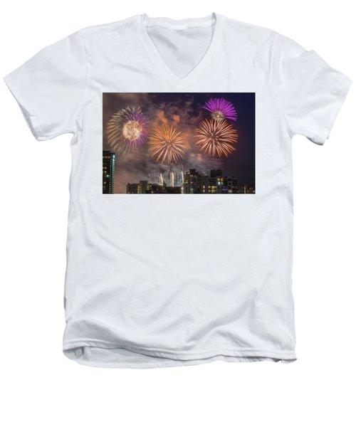Usa 1 Men's V-Neck T-Shirt by Ross G Strachan