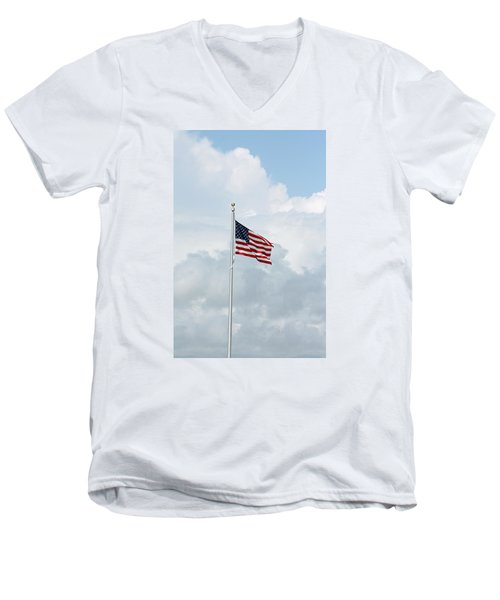 USA Men's V-Neck T-Shirt
