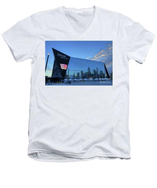 Usbank Stadium Morning Men's V-Neck T-Shirt