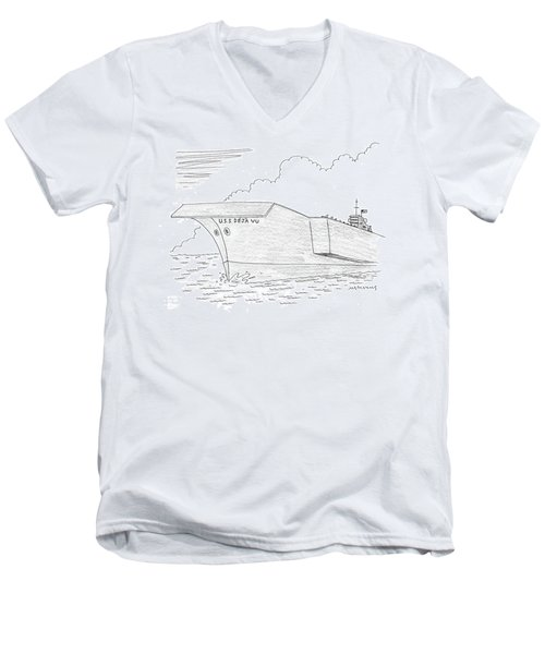 U.s.s. Deja Vu Men's V-Neck T-Shirt by Mick Stevens