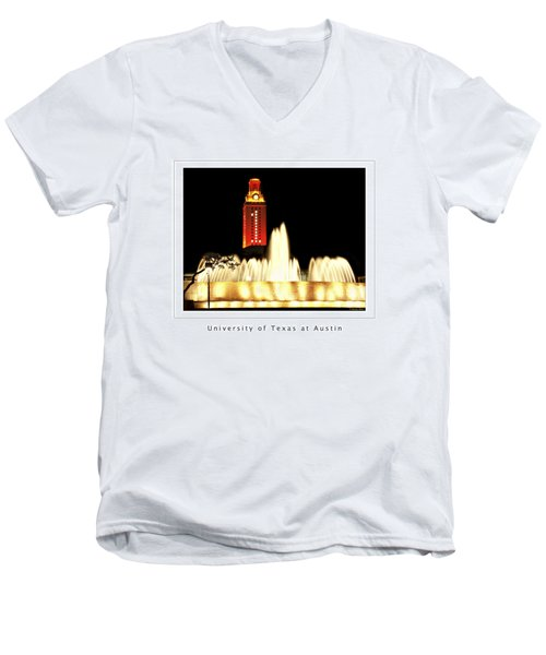 Ut Tower Poster Men's V-Neck T-Shirt