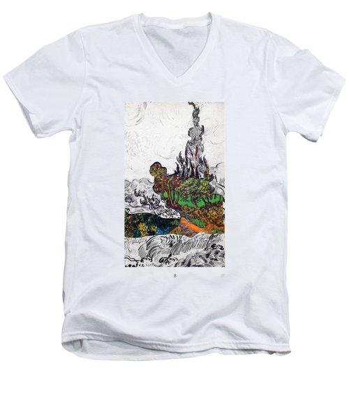 V Ogh 8 Men's V-Neck T-Shirt