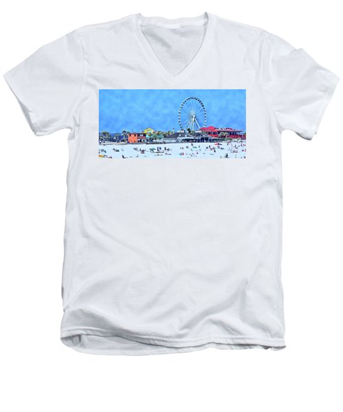 Men's V-Neck T-Shirt featuring the photograph Vacation by Kathy Bassett