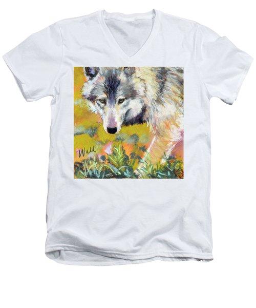 Vagabond Men's V-Neck T-Shirt by Pattie Wall