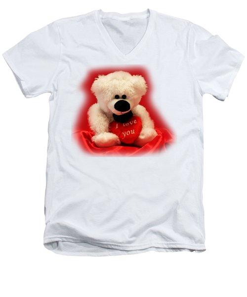 Valentine Bear Men's V-Neck T-Shirt