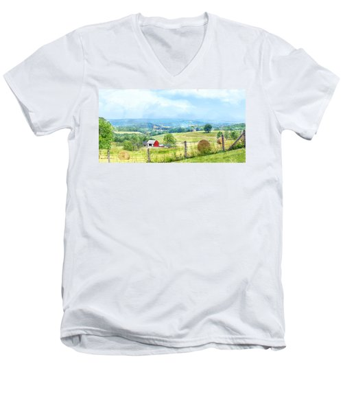 Valley Farm Men's V-Neck T-Shirt