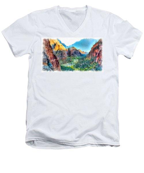 Valley Of Colours. Men's V-Neck T-Shirt