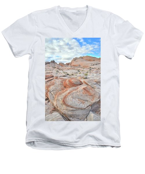 Valley Of Fire Beehives Men's V-Neck T-Shirt by Ray Mathis